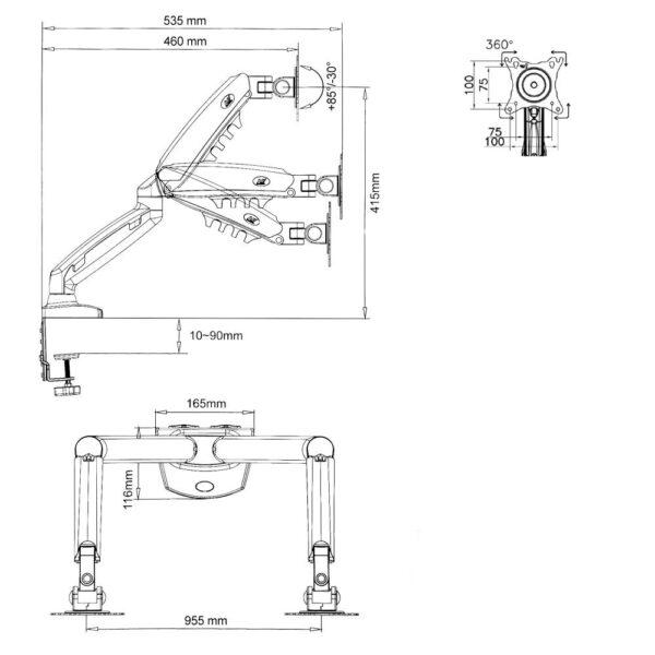 NB F160 - Supporto multischermo