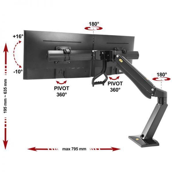 F32B- Supporto da scrivania