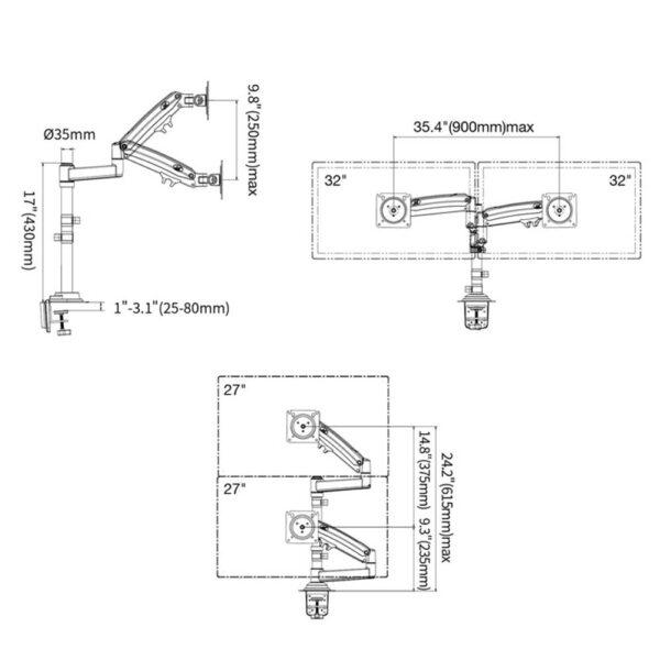 NB H180 - Supporto multischermo